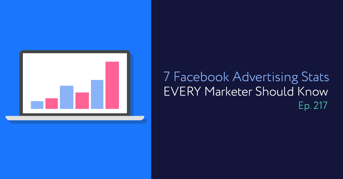 Episode 217: 7 Facebook Advertising Stats EVERY Marketer Should Know