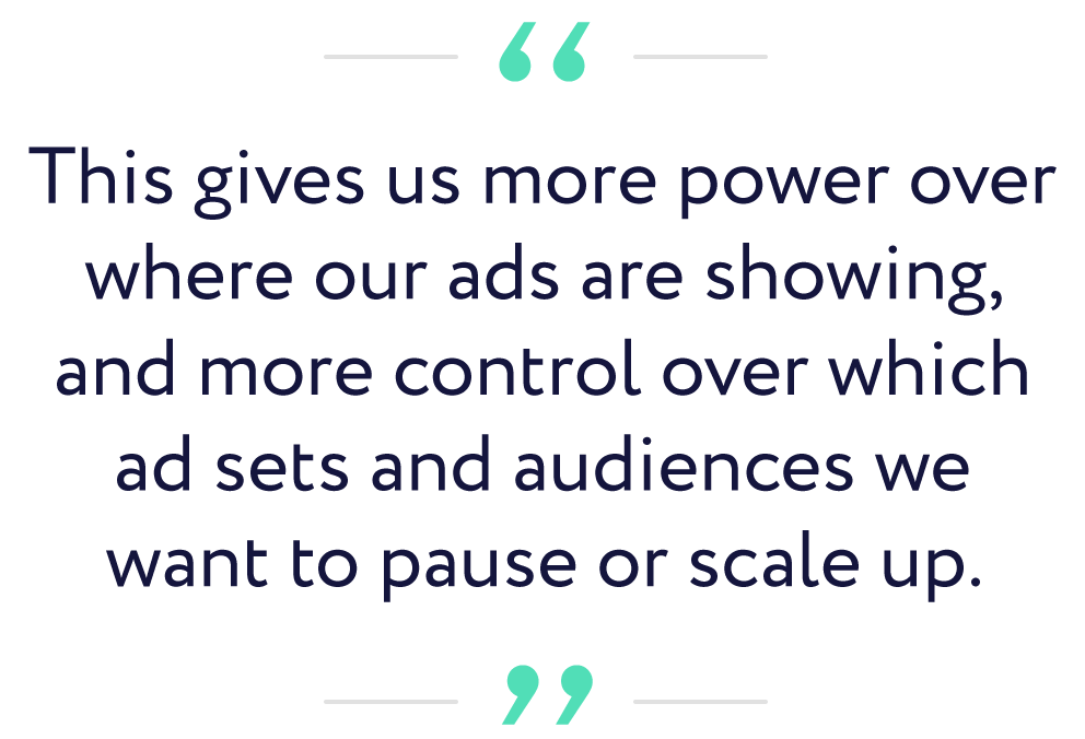 Ralph Burns quote | scale campaigns on Facebook