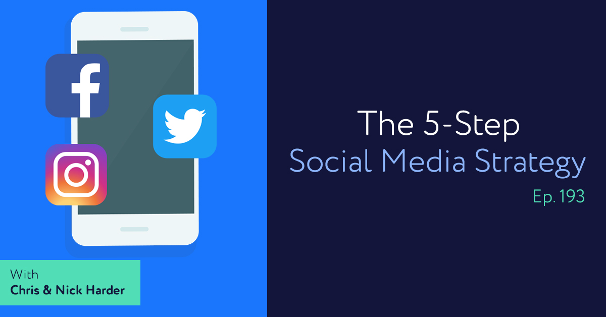 Episode 193: The 5-Step Social Media Strategy with Chris & Nick Harder