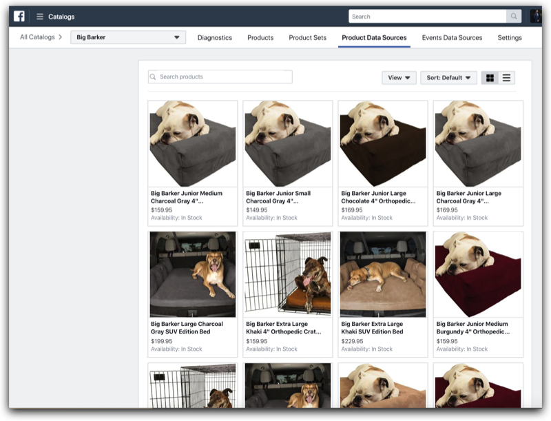 Big Barker Facebook Catalog