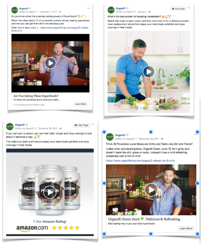 organifi facebook ad examples