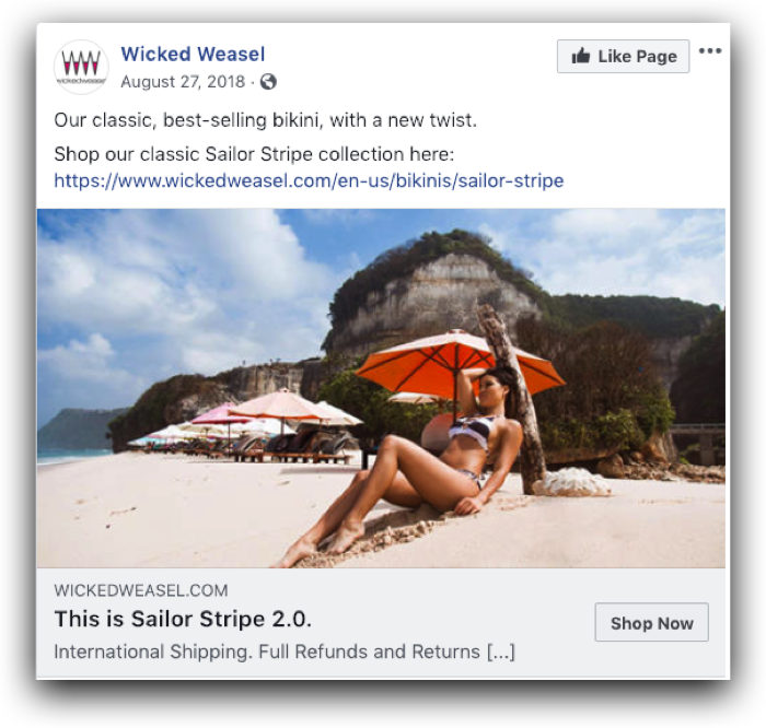 Wicked Weasel Case Study Ad Example