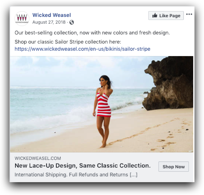 Wicked Weasel Ad Example 3