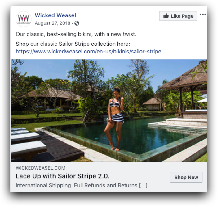 Wicked Weasel Lifestyle Facebook Ad
